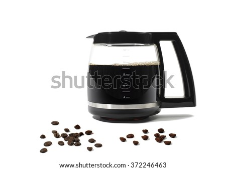 Coffee Pot on White Background