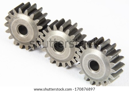 cogwheel on white background isolated