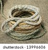 Coiled rope - stock photo