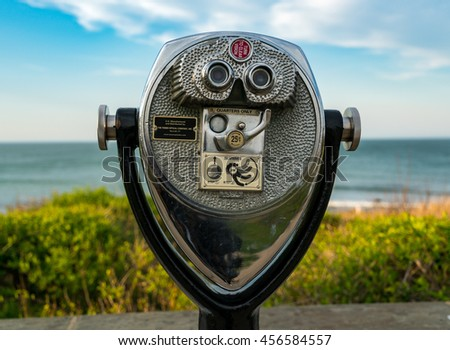 Coin-Operated Binoculars with an Ocean View