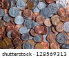 Coins. Quarters, pennies and nickels.  Financial concept - stock photo