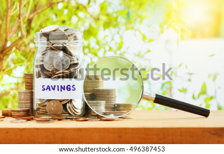 Coins stack and saving, finance concept,business background,money content and selective focus.