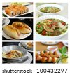 Collage from photographs of vietnamese cuisine . - stock photo
