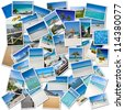 Collage of pictures evoking a trip to the Caribbean - stock photo
