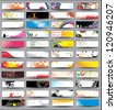 Collection Horizontal Headers on different topics. Raster version - stock photo