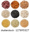 Collection of beans - isolated - stock photo