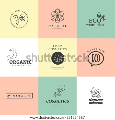 Vector Collection Cosmetics Logo Identity Templates Stock