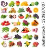 Collection of fruits and vegetables - stock photo