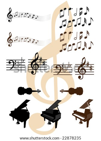 Collection of musical design elements