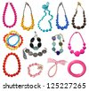 collection of necklaces - stock photo