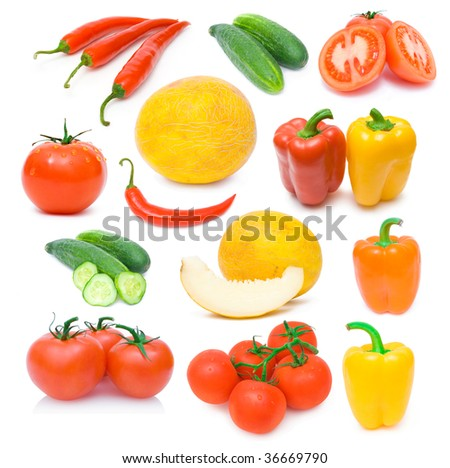 collection of ripe vegetables images