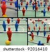 Collection of table football pictures - stock photo