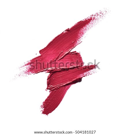 Collection of various Smears lipstick on white background