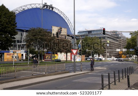 Cologne,Germany,-june 2016: The musical dome is situated near the The river Rhine