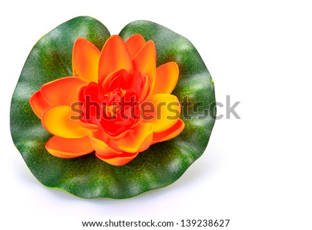 color artificial Lotus. This is a modern Thai art.