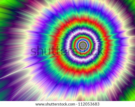 Color Explosion Tie-dye/Digital abstract image with a Tie-dye Color Explosion design in lilac, blue, purple, green, and red.