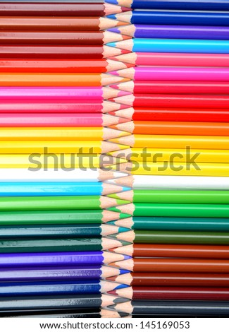 Color pencils background, zipper stylized