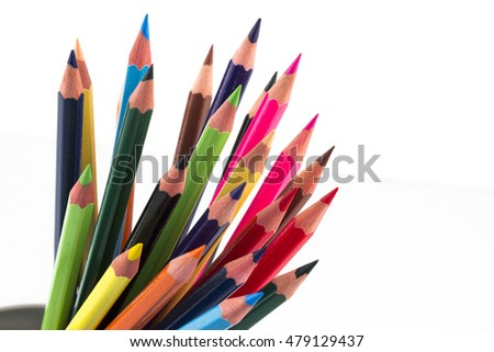 color pencils in stand