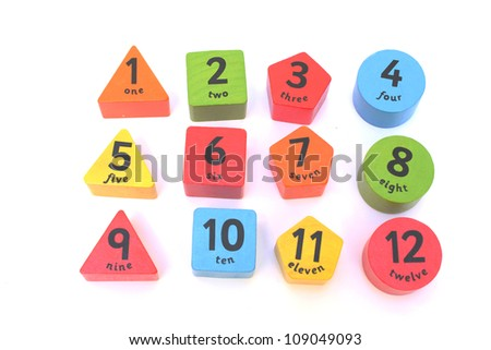 color shaped numbers from one to ten
