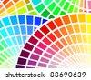 color spectrum palette background - stock photo