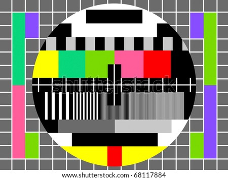 color test for television , for checking quality. Also available as vector.