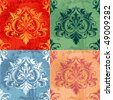 Color Variations Of Classic Decor Elements, raster version - stock photo