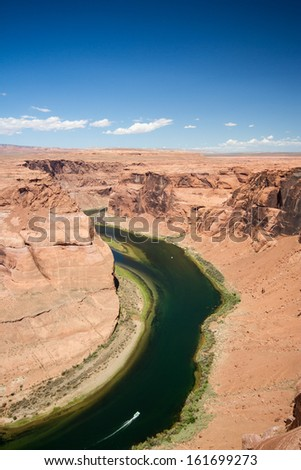 Colorado river horse shoe bend near Page
