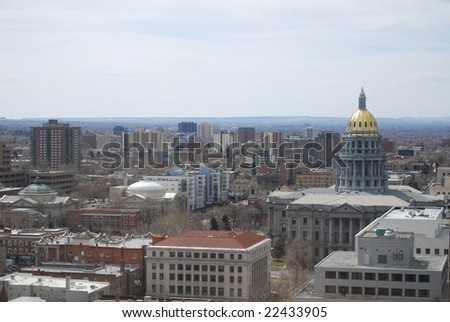 Colorado State Capital with surrounding buildings