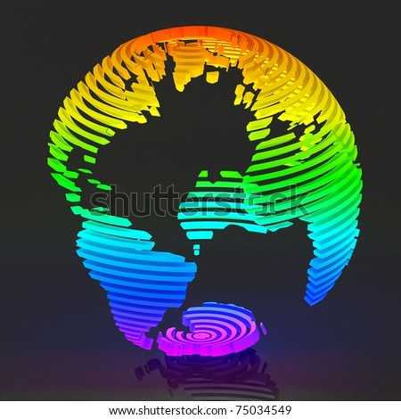 Colored abstract globe