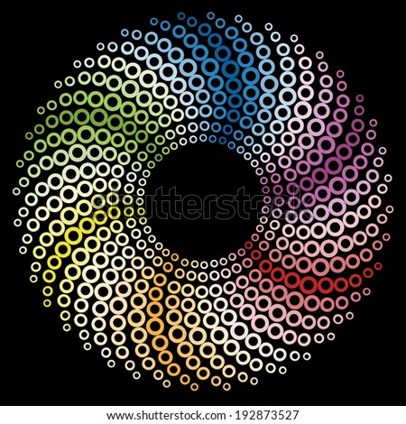 colored circular design - background
