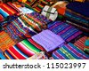Colored fabrics - stock photo