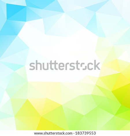 Colorful abstract design template. Bright background