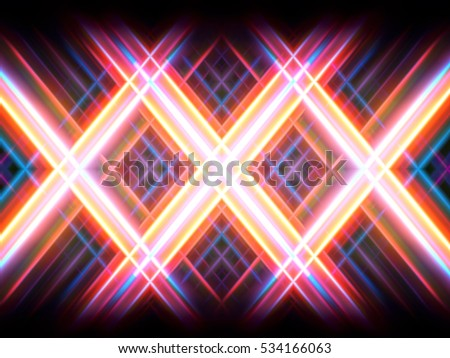 colorful abstract radiant neon lattice
