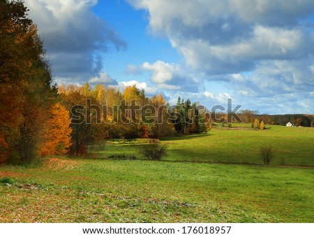 colorful autumn landscape