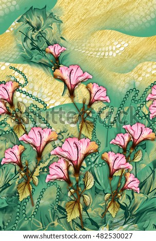 Colorful Background Design With Flower