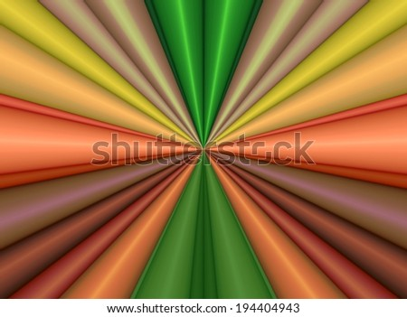 Colorful background with centric lines