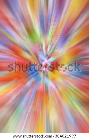 colorful balloon on radial blur effect