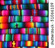 colorful blankets from Guatemala - stock photo