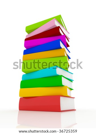 Colorful Book Stack