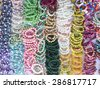 Colorful bracelets - stock photo