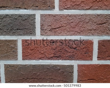 Colorful brick wall as background