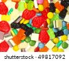 Colorful candies background - stock photo