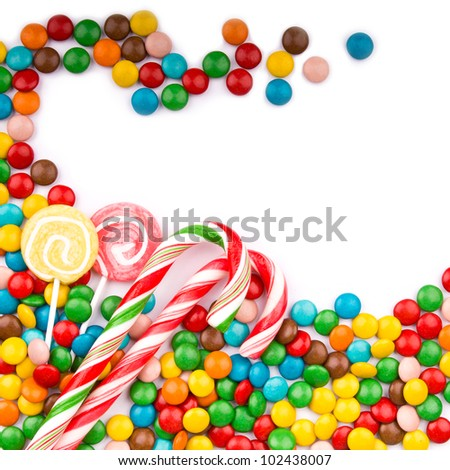 3d Colorful Candy Border Background Stock Illustration ...