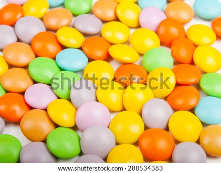 Colorful candy round shape photography close up