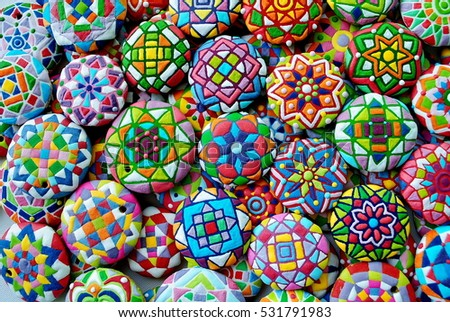 Colorful Christmas background, Kaleidoscope Card , Cookies for New Years party