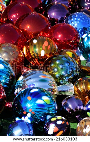 colorful Christmas Toys as background