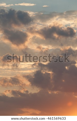 Colorful clouds at sunset
