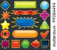 Colorful Design Elements. Used as a Button, Tag, Badge, Icon Template, Label, Sale Tag, Discount Banner etc. - stock photo