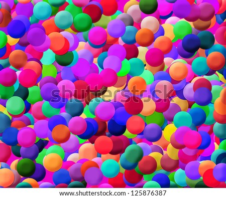 Colorful Disks Pink Background