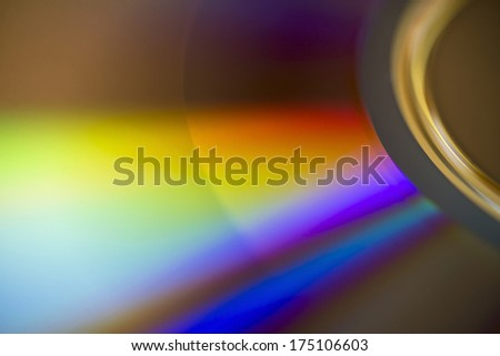 Colorful dvd disk